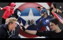 Embedded thumbnail for Nagy csatában lett közönségdíjas Amerika Kapitány