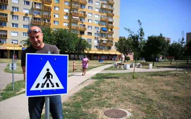 Táblapótlás a KRESZ-parkban