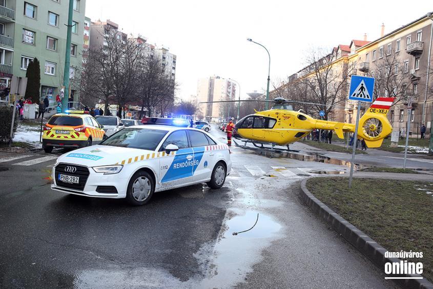 Mentőhelikopteres mentőakció - fotó: Sándor Judit
