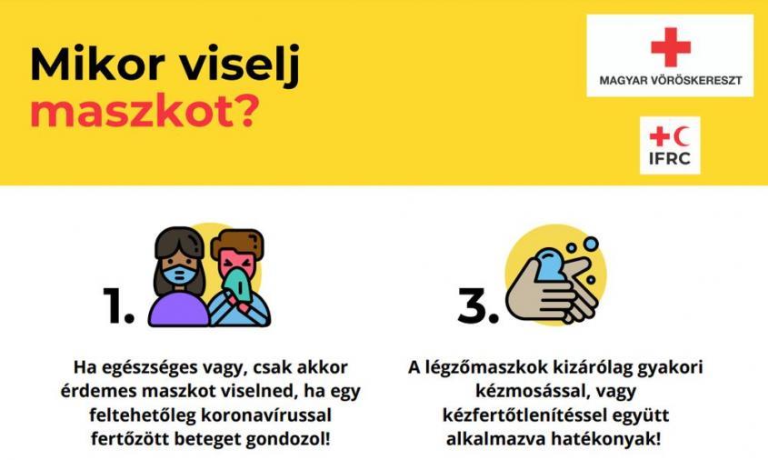 Magyar Vöröskereszt: így csökkentsd a járvány terjedésének esélyét! - fotó:
