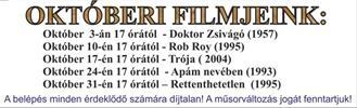 Bódy Gábor Filmklub októberi programja
