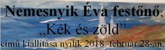 Nemesnyik Éva – Kék és zöld című kiállítása