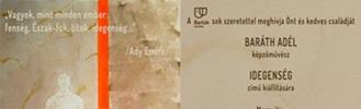 Idegenség - Baráth Adél kiállítása
