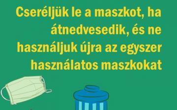 A helyes maszkviselet szabályai - fotó: