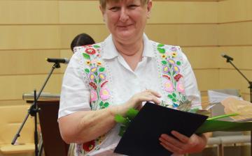 Pedagógusdíjak átadása a díszteremben - fotó: