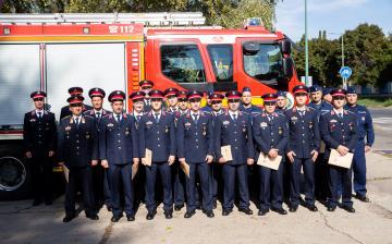 Elismerésben részesültek a legkiválóbb tűzoltók