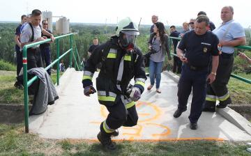 Tűzoltók lépcsőfutása - kétszázat menetfelszerelésben