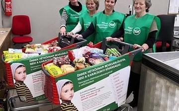 Mintegy 250 tonna tartós élelmiszert gyűjtött a Magyar Élelmiszerbank