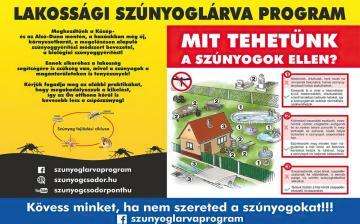 Szúnyoggyérítés – lakossági teendőkkel