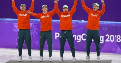 Olimpiai bajnok a magyar férfi korcsolyaváltó