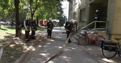 Tűz a Fáy utcában - ne ijedjenek meg, csak tűzoltási gyakorlat